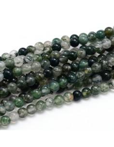 Bracelet Agate Mousse perles 06mm