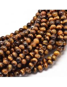 Bracelet Œil du Tigre Perles 06mm