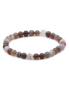 Bracelet Agate de Bostwana perles 06mm