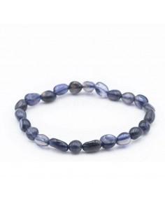 bracelet grains cordiérite lolite