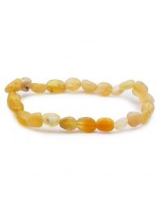 Bracelet opale jaune grains