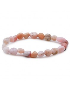 bracelet opale rose grains
