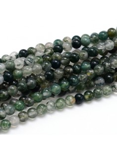perles agate mousse 08 mm