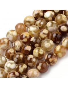 Agate de feu perles 06 mm