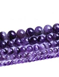 perles améthyste 08 mm