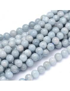 perles aigue marine 08 mm