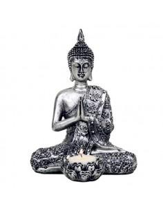 bougeoire bouddha argenté