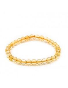 Bracelet Citrine Perles 06mm