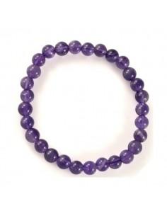 bracelet Amethyst Perles 06mm