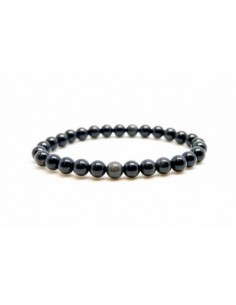 Bracelet Obsidienne oeil celeste Perles 06mm